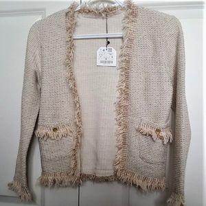 Zara Girls Tweed Knit Sweater